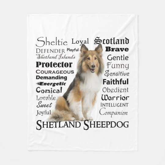Sheltie Traits Fleece Blanket
