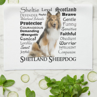 Sheltie Traits Kitchen Towel