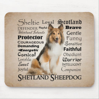 Sheltie Traits Mouspad Mouse Pad