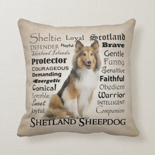 Sheltie Traits Pillow