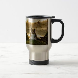 sheltie travel mug