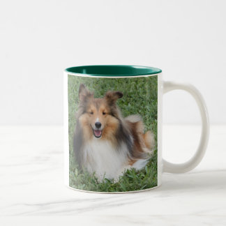 SHELTIE Two-Tone COFFEE MUG