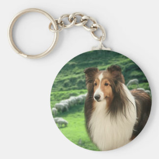 Shelties Lead Keychain