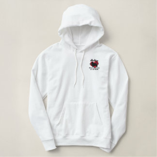 Shelties Leave Paw Prints Embroidered Hoodie