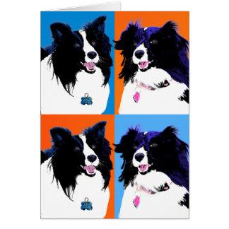 Shelties Pop Art Card