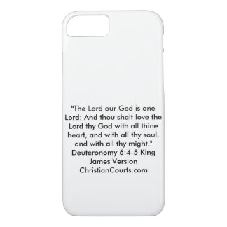 shema Deuteronomy 6:4-5 Bible Scripture iPhone 8/7 Case