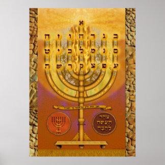 Shemen ha Tov Menorah Poster