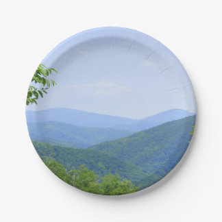 Shenandoah Mountains 7 Inch Paper Plate