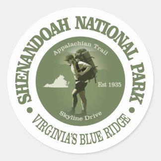 Shenandoah NP Round Sticker