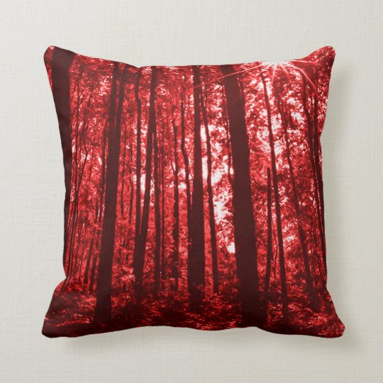 Shenandoah Red Throw Pillow