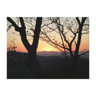 Shenandoah Sunset National Park Landscape Canvas Print