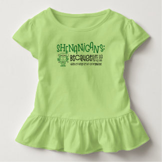 Shenanigans Toddler Ruffle Shirt