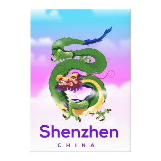 Shenzhen China Dragon travel poster Canvas Print