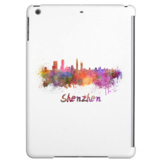 Shenzhen skyline in watercolor case for iPad air