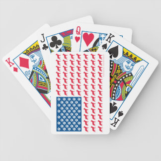 Shepard-Flag Patriotic Bicycle Playing Cards
