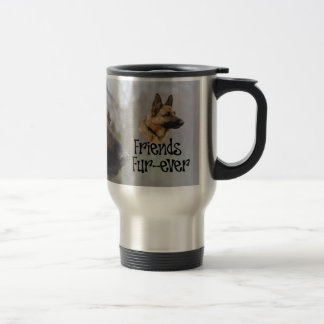 "Sheperd thermal cup ""Friends Fur more ever """