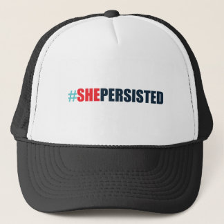 #shepersisted trucker hat