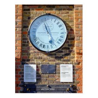 Shepherd 24hr Gate Clock, Greenwich Postcard