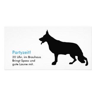 Shepherd dog maps photo greeting card