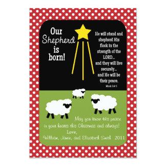 SHEPHERD Scripture Verse 2-Sided Christmas Card