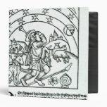 Shepherd under Sun, Moon and Stars 3 Ring Binder