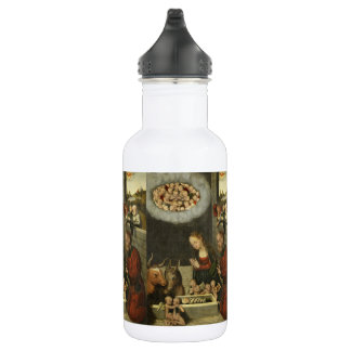 Shepherds Adoring Baby Jesus by Cranach 532 Ml Water Bottle