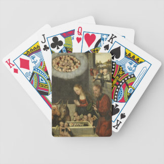 Shepherds Adoring Baby Jesus by Cranach Bicycle Playing Cards