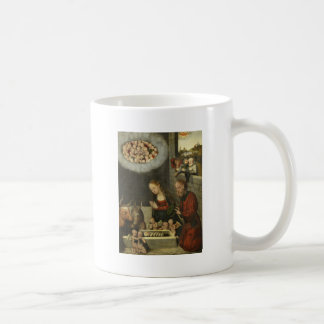 Shepherds Adoring Baby Jesus by Cranach Coffee Mug