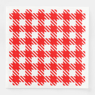 Shepherd's Check, stripe, Customize, Change color Paper Dinner Napkin