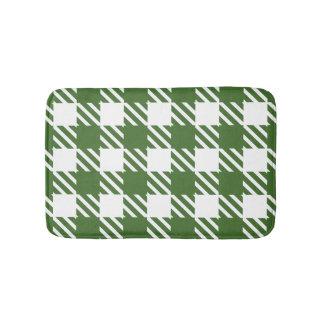 Shepherd's Check, stripe, Customize, Change colour Bath Mat