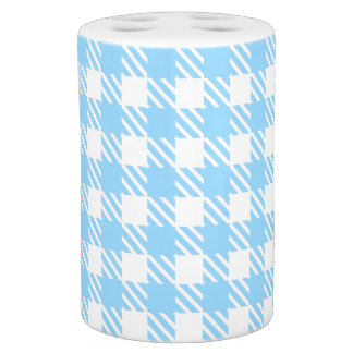 Shepherd's Check, stripe, Customize, Change colour Soap Dispenser And Toothbrush Holder
