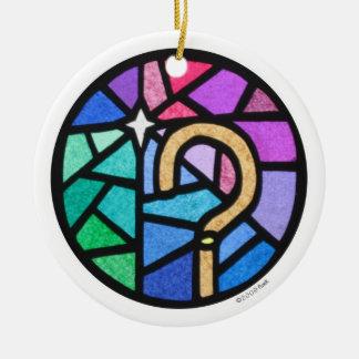shepherd's crook ceramic ornament
