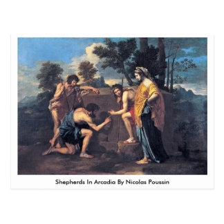 Shepherds In Arcadia By Nicolas Poussin Postcard