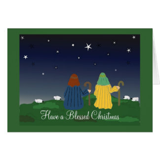 Shepherds Watching Their Flocks By NIght Card