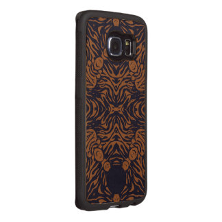 Sherbert Zebra Abstract Wood Phone Case