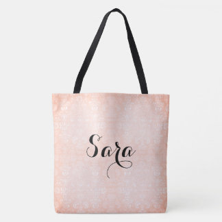 Sherbet-Damask_Bridal-Favor_Totes-Bags_Multi-Sz Tote Bag