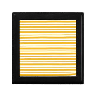 Sherbet Orange Pinstripe Gift Box