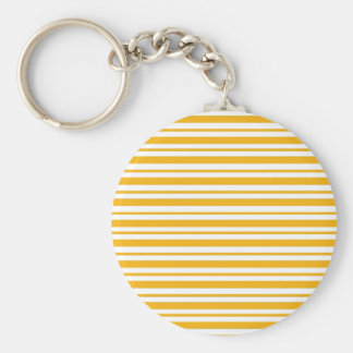 Sherbet Orange Pinstripe Keychain