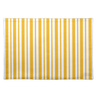 Sherbet Orange Pinstripe Placemat