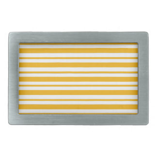 Sherbet Orange Pinstripe Rectangular Belt Buckle