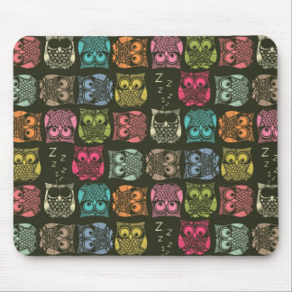 sherbet owls mouse pad