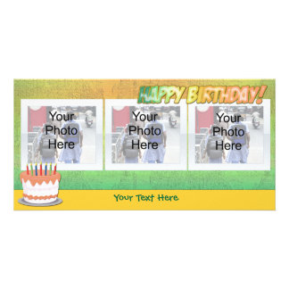 Sherbet Rainbow Happy Birthdy Photo Cards
