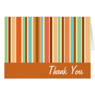 Sherbet Stripes Thank You Cards