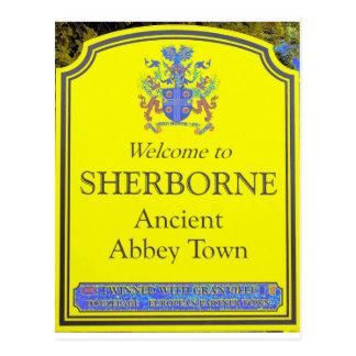 sherborne yellow postcard
