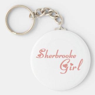Sherbrooke Girl Basic Round Button Keychain