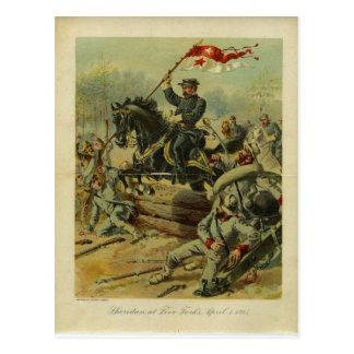 Sheridan at Five Forks by H.A. Ogden Postcard
