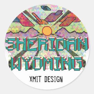 Sheridan, Wyoming Bumper Sticker! Classic Round Sticker