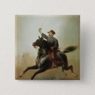 Sheridan's Ride, 1871 2 Inch Square Button