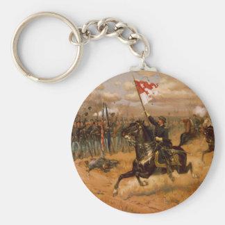 Sheridan's Ride by Thure de Thulstrup Keychain