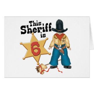 Sheriff 6th Birthday Invitations Note Card